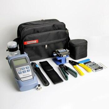 8 en 1 Fibra óptica FTTH kit de herramientas con fc-6s Fibra Cleaver y medidor de energía óptica 5 km visual fault localizador Alambres stripper