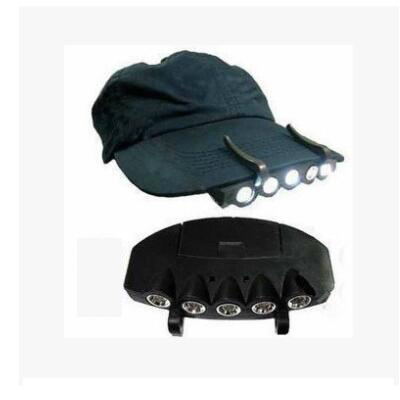 Bicycle Front Light 5 Led headlight mountain road Cap clip led cycling bike lights ...