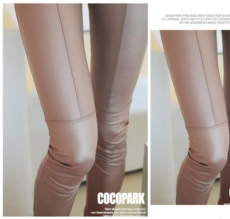 2cae769c0fbf57 Faux Leather Leggings for Women FitnessJeggings Pants Casual sport Leggings  sexy solid Large Size black,khaki Legging-in Leggings from Women's Clothing  on ...