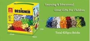 Image 2 - 625 adet/grup çocuklar DIY oyuncaklar eğitim yapı taşları ile uyumlu Legoes tuğla parçaları erkek erken öğrenme plastik montaj