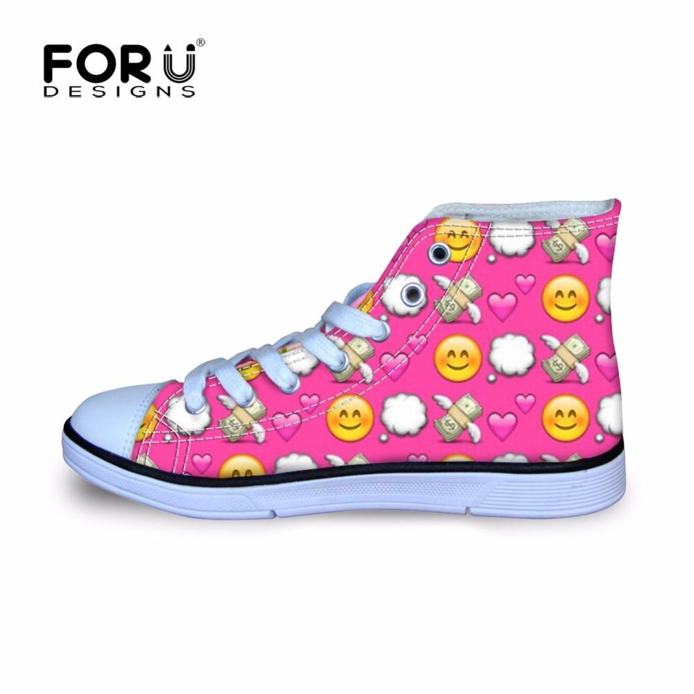 Forudesigns Emoji Druck Kinder Schuhe Russische Emotion Mädchen Schuh Jungen Hoch Oben Flache Turnschuhe Radfahren Schuhe Komfortable Großhandel