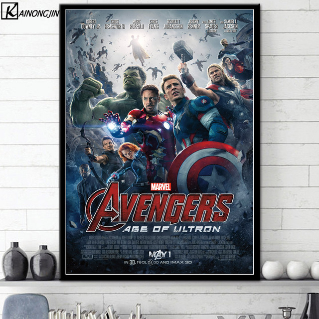 Posters And Prints Marvel Universe Collage Avengers Art Poster End Game Wall Picture Canvas Painting