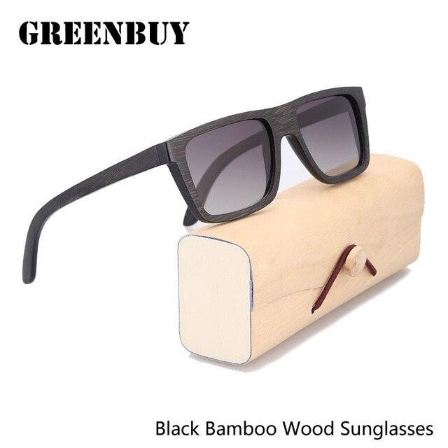 Sunglasses Polarized Women Bamboo Wooden Eyewear Glasses Women Oculos de sol das Mulheres Designer de Marca Classic Sun Glasses