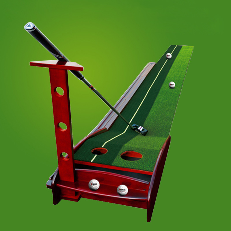 Golf Putting Green Trainer Outdoor Indoor Golf Putter Practice Green Mat Automatic Return Fairways Equipment Golf Training Aids