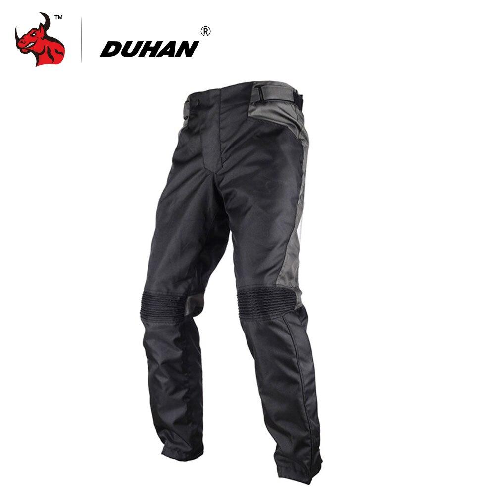 DUHAN Motorcycle Pants Winter Warmth Mens Motorcycle Racing Motocross Pants Pantalon Motocicleta Moto Pants With 2pcs Knee