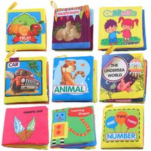 лучшая цена 9-Pack Non Toxic Fabric Baby Cloth Books Early Education Toys Activity Crinkle Cloth Book Toddler