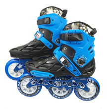 JEERKOOL Roller Skates Professional Roller Skating Shoes for Kids Adult 3*110mm Wheels for Slide Slalom Speed FSK Patines F40 3x110mm slalom convert to inline speed skates frame with 11 25 3 layers 110mm wheels racing patines basin base 150mm to 180mm
