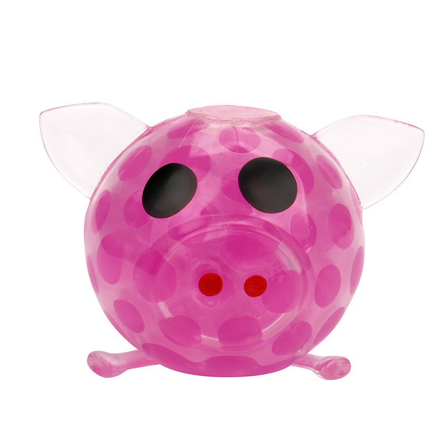 Antistress  Novelty 7cm Bead Stress Ball Sticky Squeeze Big Pig Squeezing Stress Relief Toys free shipping slime for kids17Dec14