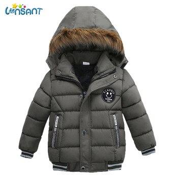8af909c13 LONSANT nueva moda con capucha abrigo cálido niños chaquetas de invierno  para Niños Niñas Ropa abajo