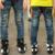Nueva llegada del resorte y otoño 2016 Jeans de los niños coreanos del dril de algodón pantalones moda para niños de mediana pantalones B145