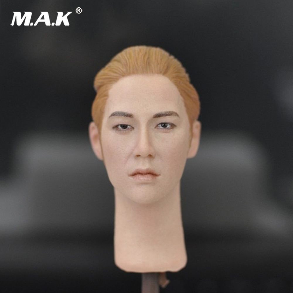 Hot Toys Asian star head Sculpt  handsome male Man Head Carving Fit for 12 male Action Figure body AccessoryHot Toys Asian star head Sculpt  handsome male Man Head Carving Fit for 12 male Action Figure body Accessory