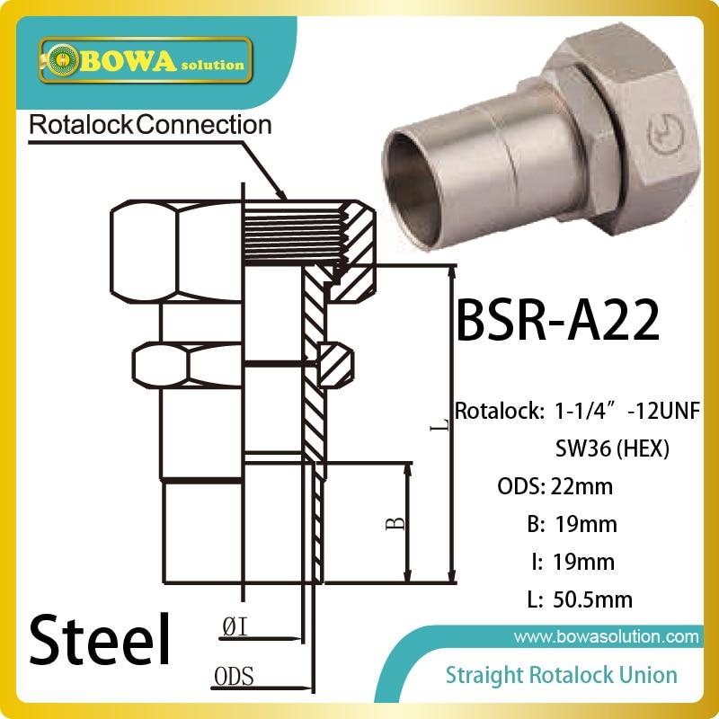 7/8 ODS straight SW36 hex rotalock valve installed in beverage cooler 1 1l liquid efrigerant receiver with rotalock valve installed in cassette refrigeration plant for bottle cooler