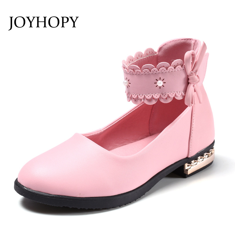 Children Party Leather Shoes Genuine leather Kids Shoes For Girls Single Shoes Dance Dress shoe