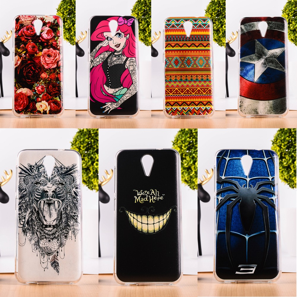 AKABEILA Soft TPU Mobile Phone Case For HTC Desire 620G 620 Dual Sim 820mini D820mu 5.0inch Painted Back Cover Shell Skin Shield