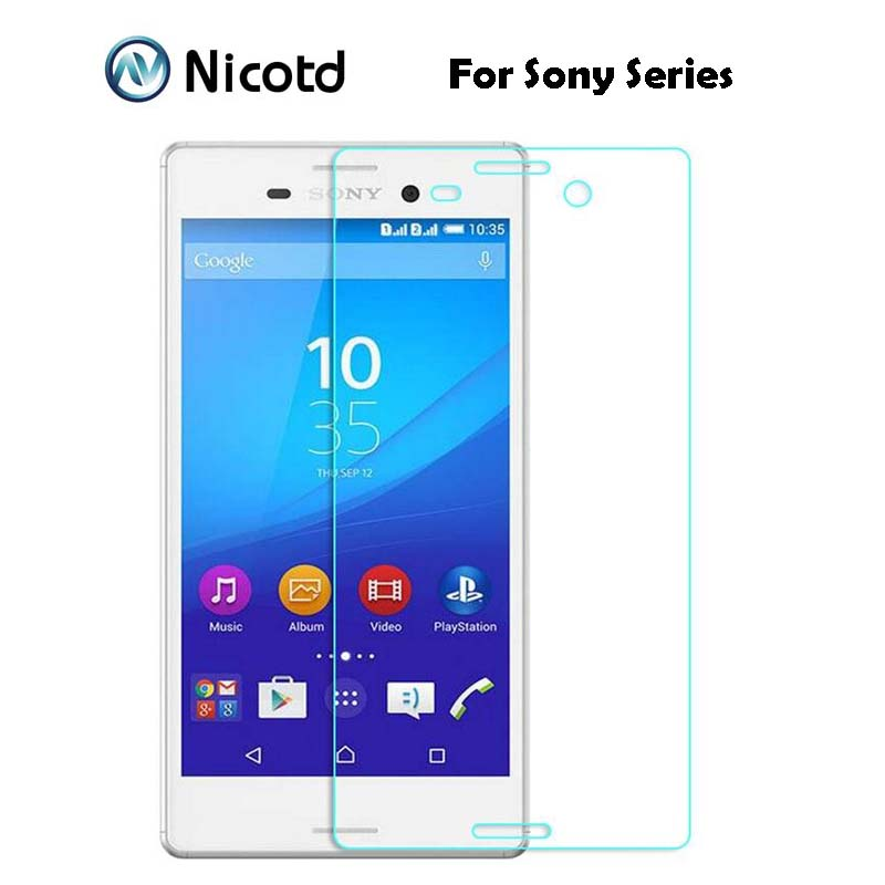 9H 0.26mm 2.5D Coated Tempered Glass For Sony Xperia Z Z1 Z2 Z3 Z4 Z5 Premium Compact M5 M4 aqua ExplosionProof Screen Protector(China)