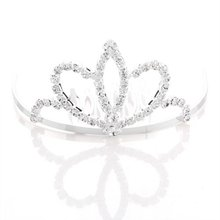 Silver Plated Rhinestone Hair Jewelry Tiara Bridal Hair Arrangement Bride