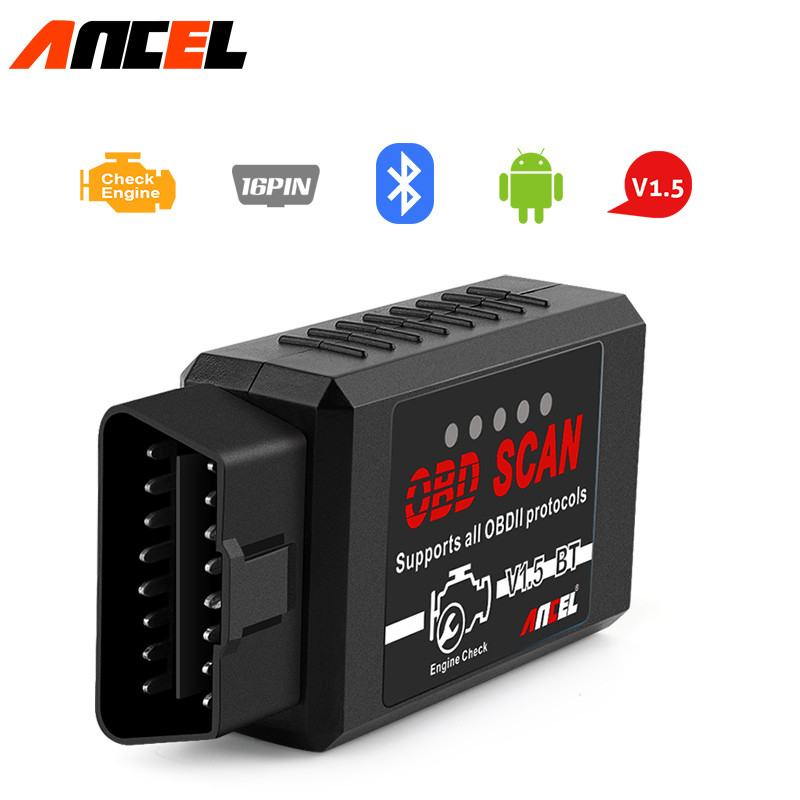 Android Extension For Bluetooth Adapter All Carly Adapters: ELM327 V1.5 Bluetooth ANCEL OBD2 Scanner Code Reader