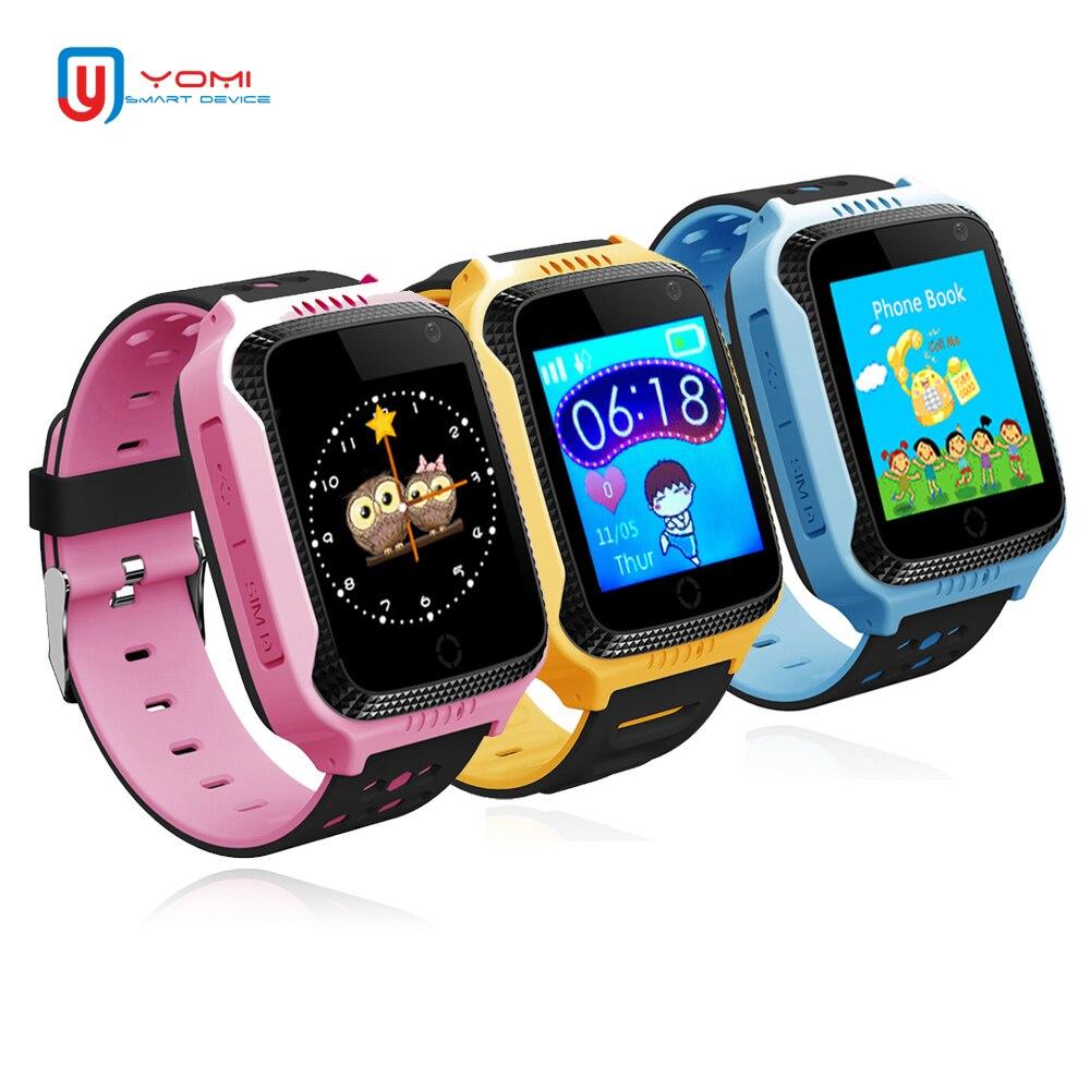 GPS Montre Smart Watch pour Enfant Bébé Support carte SIM SOS Appel Caméra lampe de Poche Montre-Bracelet pour Garçon et Fille IOS/ android PK Q100 Q50