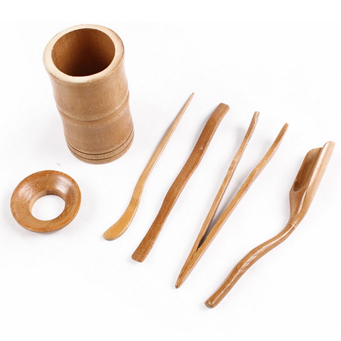 6Pcs/Set Home Tea High Quality Chinese Kongfu Tea Ceremony Utensils Set Bamboo Tea Accessories