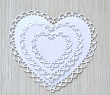 Lace Heart Craft Die Metal Stencil Embossing Cutting Dies Stamps 3D DIY Scrapbooking Craft Photo Frame Invitation Cards Decor(China)