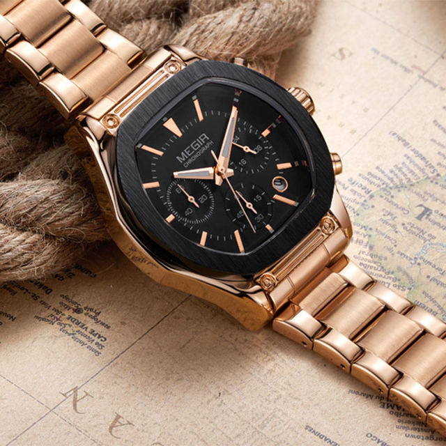 MEGIR Brand Women Chronograph Watch 24 Hours Multifunction Military Quartz Watches Leather New Style Watches relogios feminino