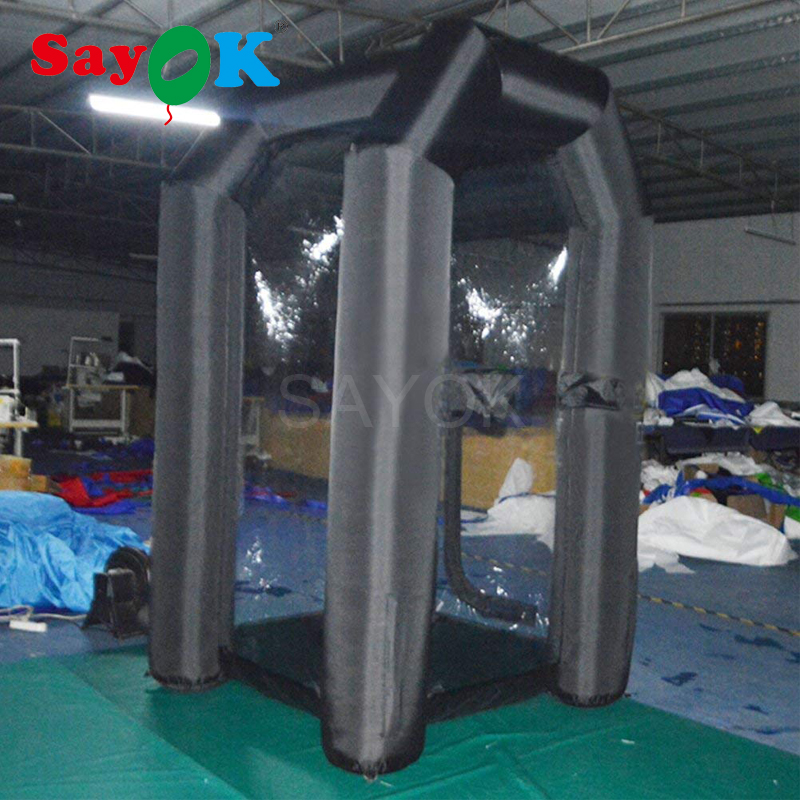 Sayok Inflatable Money Machine Booth Inflatable Cash Cube Booth Machine with Air Blower for Event Promotion