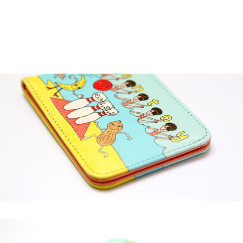 AEQUEEN Mini Cute Cartoon Business Card ID Holders Wallet Funny ...