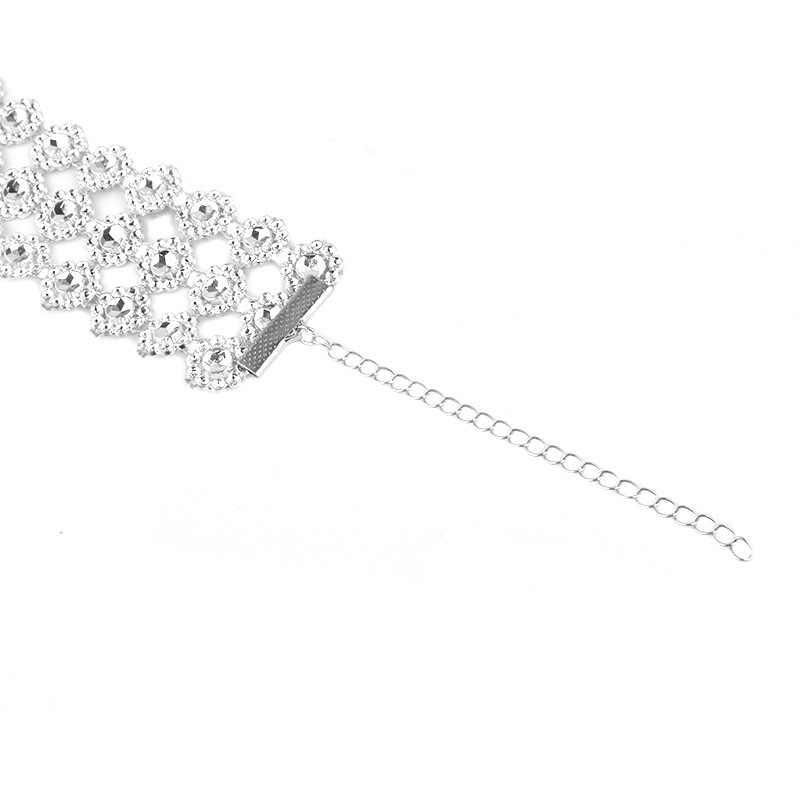 """Thời Trang mới Acrylic Bling Xương Đòn Chokers Vòng Đeo Cổ Cho Nữ Hoa Cưới Đính Vòng Cổ Collares Mujer """"Collier NB325"""