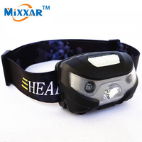RUZK5 Mini Rechargeable LED Headlamp 3000Lm Body Motion Sensor Headlight Camping Flashlight Head Light Torch Lamp