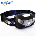 RUZK5  Mini  Rechargeable LED Headlamp 3000Lm Body Motion Sensor Headlight Camping Flashlight Head Light Torch Lamp With USB