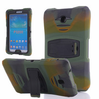 P3200 Case Stand Cover Silicone Plastic Hybrid Armor Case For Samsung Galaxy Tab 3 7 0