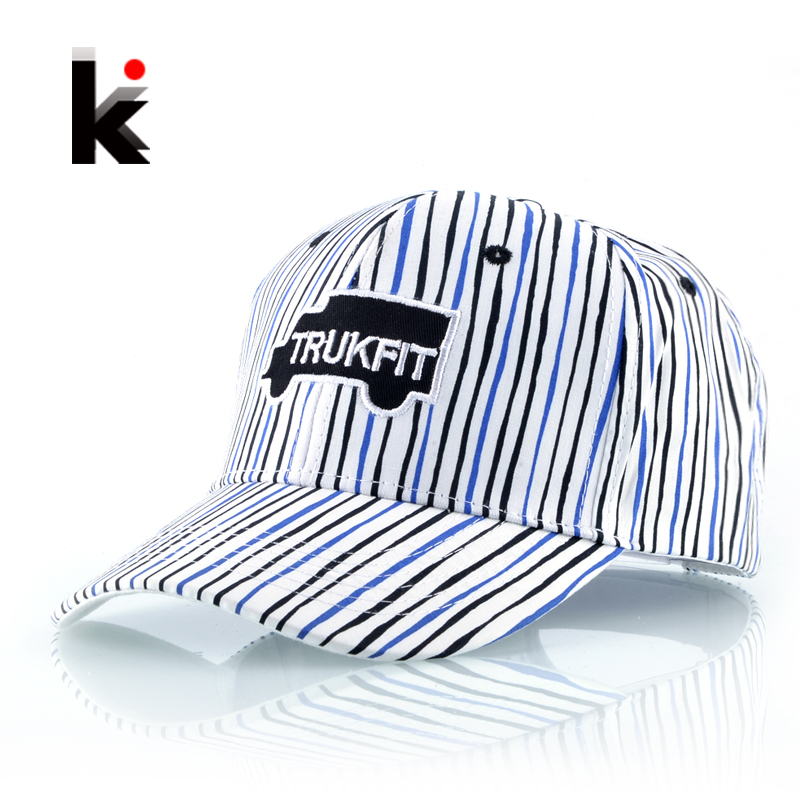 Letter Emboridery Striped Baseball Cap Women New Fashion Trucker Hats For Men Snapback Hip Hop Bone Feminino Casquette De Marque 2016 new new embroidered hold onto your friends casquette polos baseball cap strapback black white pink for men women cap