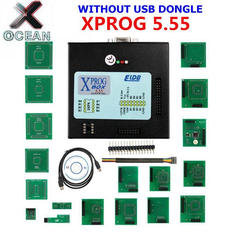 V5.55 XPROG-M Volle Adapter Auto ECU Chip Tuning Programmierung Xprog M 5,55 Metall Box AUTH-0025 Autorisierten X-PROG