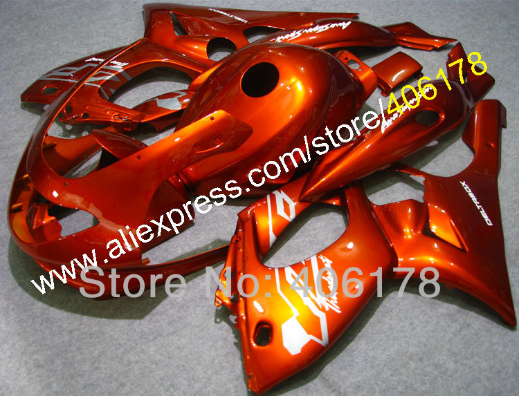 Hot Sales,97 98 99 00 01 02 03 04 07 YZF-600R fairing For Yamaha YZF600R Thundercat Fairing 1996-2007 Orange Body kit Fairings
