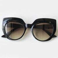 2019 Women Cat Eye Sunglasses Luxury Brand Designer Big Frame Shades Oversize Outdoor Fashion Shades UV 400
