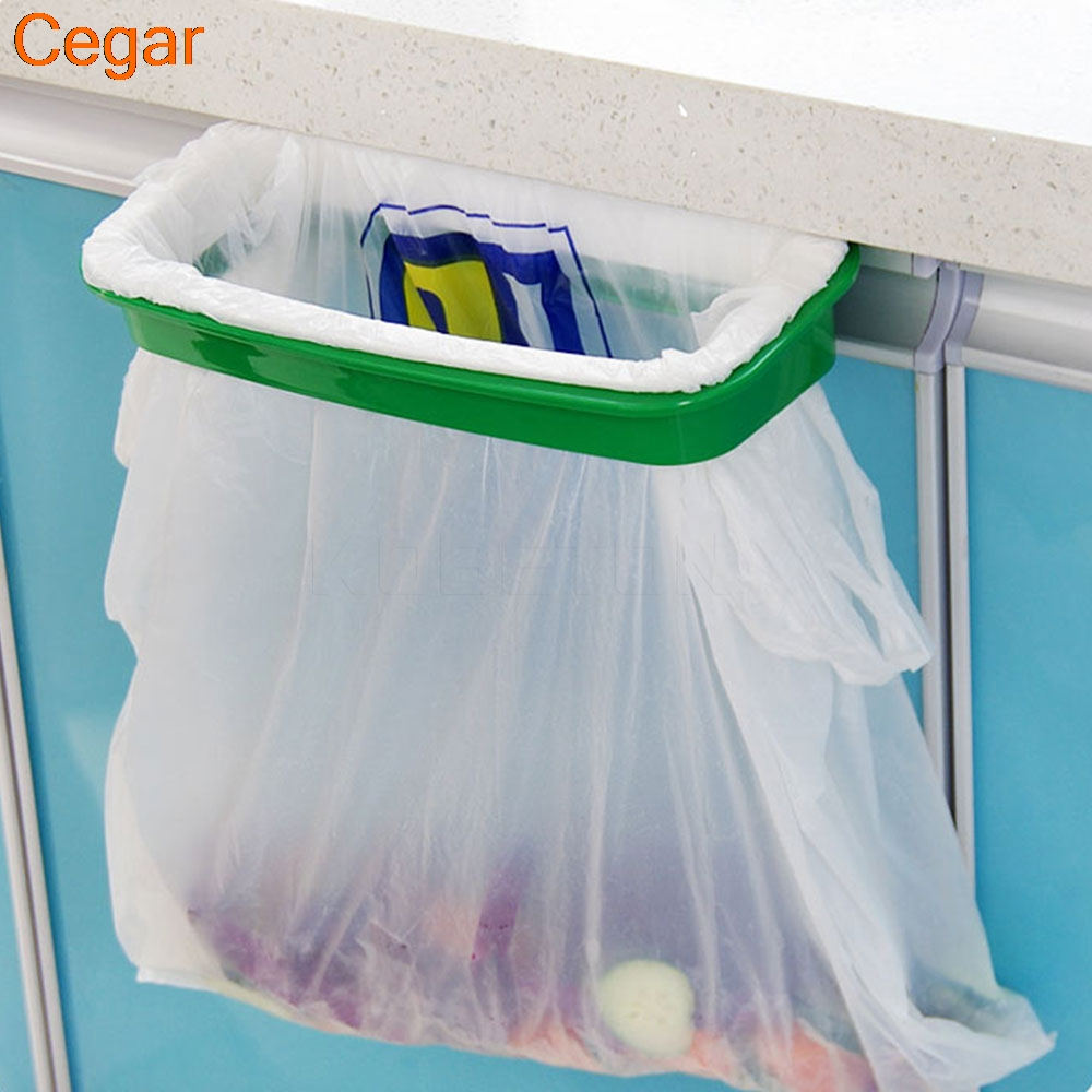 Hanging Kitchen Cupboard Door Back Style Stand Trash Garbage Bags ...