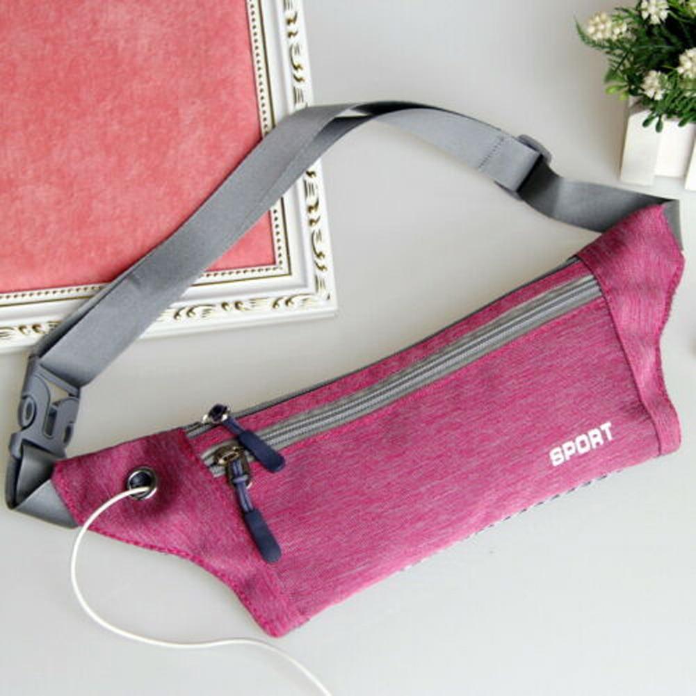 Fashion Men's And Women's Universal Sports Waist Bag  Oxford Cloth Fanny Pack Solid Color Zipper Fashion Belt Bag