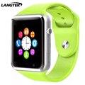 LANGTEK Smart watch A1 Bluetooth  Sport Pedometer SIM/TF bluetooth smart watch watch for apple&Android smartwatch iphone