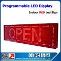 """Frete grátis 27 """" * 8 '' em movimento mensagem Led vermelho Programmable Scrolling Display Led placa do sinal P10 levou módulo interior"""