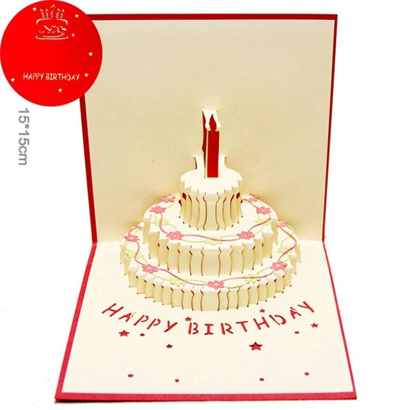 Открытки, открытка торт как сделать