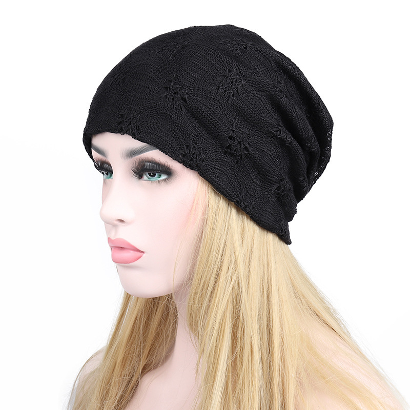 Spring And Autumn Hats Woman Hollow Out Lace Cap. Double-deck Heap Confinement Hat Chemotherapy Hat