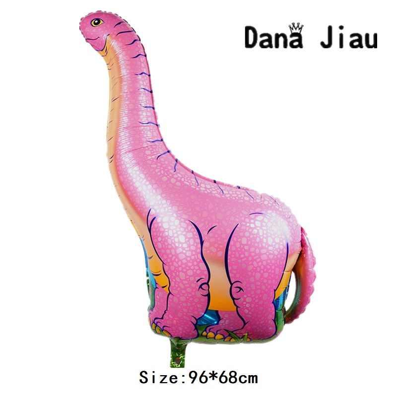 Dana Jiau NEW dinosaur Foil Balloon Birthday party decoration Kids Toy Inflate helium Ballon animal zoo theme decorate ball