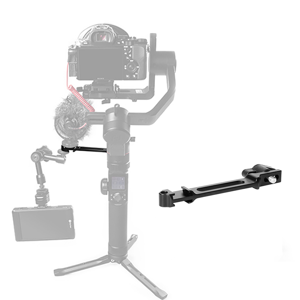 Agimbalgear DH-08 Dual Hot Shoe Mount Bracket Stand Microphone Extension Bar for Feiyu G6 SPG 2 AK4000 AK2000 Moza Mini-mi