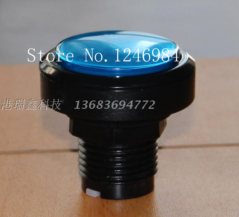 [SA]Video game consoles accessories round button blue button hypotenuse mainframe computer switch button--20pcs/lot