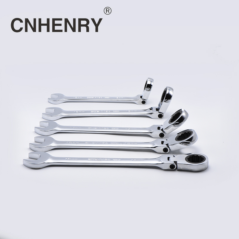 5 pezzi 10,13,14,17,19mm flessibile reversibile testa combinazione chiave a cricchetto chiavi universali chiavi strumenti auto per riparazione auto