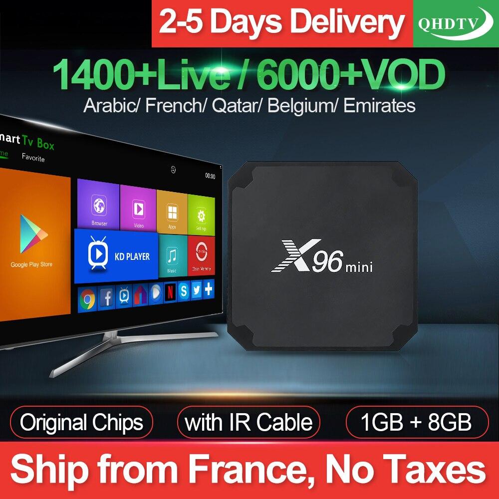 X96 mini IP TV France Box S905W Android 7.1 QHDTV 1 an IPTV abonnement IPTV arabe belgique pays-bas français IP TV France
