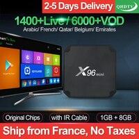 X96 mini IP TV France Box S905W Android 7.1 QHDTV 1 year IPTV Subscription IPTV Arabic Belgium Netherlands French IP TV France