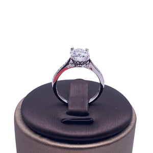 Image 5 - 925 sterling silver ring 1ct 2ct 3ct Luxury Diamond jewelry Moissanite ring Single row drill Wedding Party Anniversary Ring