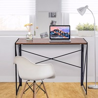 Giantex Folding Writing Computer Desk Modern Simple Study Desk Laptop Table Home Office Commercial Furniture HW59256