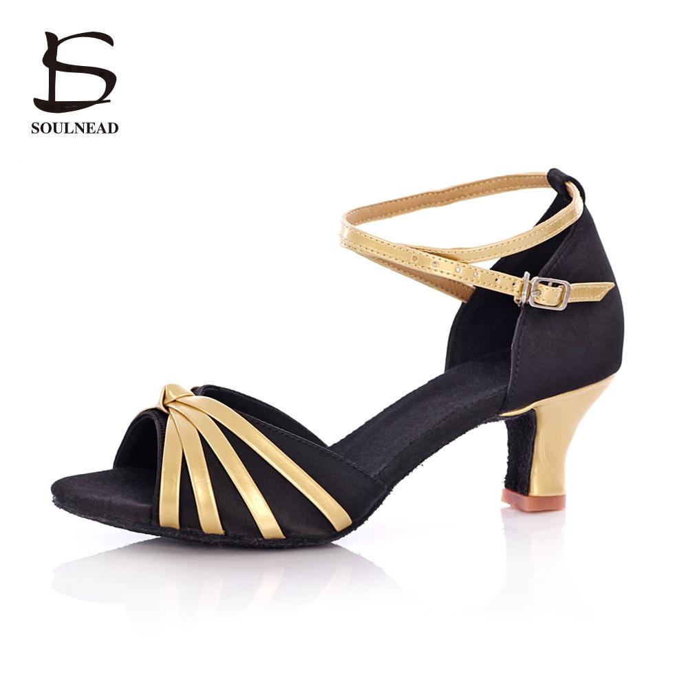 5cm/7cm High Heel Latin Dance Shoes Professional Ballroom Salsa Tango Party Dancing Shoes For Women Girls Ladies Size 34-40